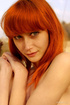 redhead girl with small