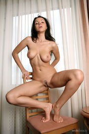 astonishing brunette demonstrates her