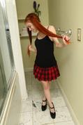 peeing, redhead, teen, toys