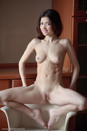 young brunette shows off