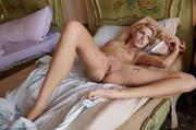 outstanding slender blonde poses