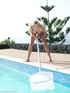 lusty naked pool cleaner