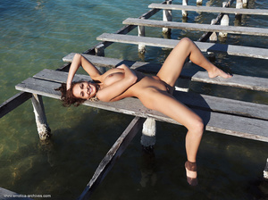 Busty brunette with an elegant naked bod - XXX Dessert - Picture 5