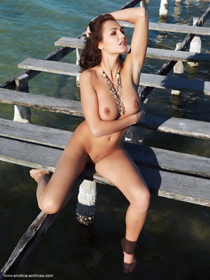 Busty brunette with an elegant naked bod - XXX Dessert - Picture 12