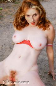curvy redhead red bra