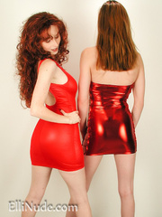 two curvy redheads tight