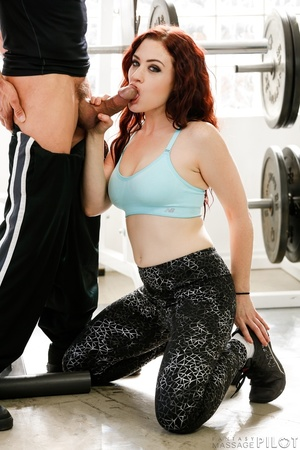 Delicious redhead in blue top and black  - XXX Dessert - Picture 10