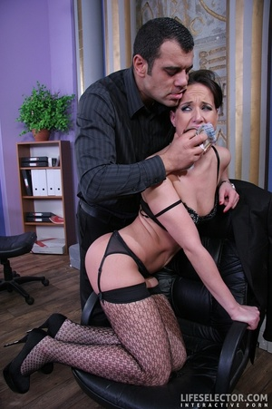 Brunette secretary in glasses gets tied  - XXX Dessert - Picture 6