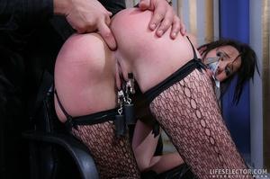 Brunette secretary in glasses gets tied  - XXX Dessert - Picture 8