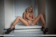 pretty blonde strips and
