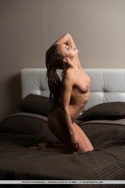 slender chick gets naked