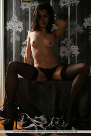 sultry girl stockings takes