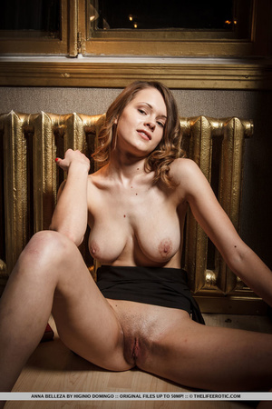 Brunette with natural tits gets turned o - XXX Dessert - Picture 16