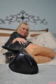 sexy blonde milf black