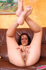 brunette white panties lays