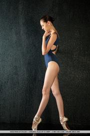 seductive ballerina dances gracefully