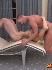 Busty blonde police girl is fucked by a hung soldier - Picture 7