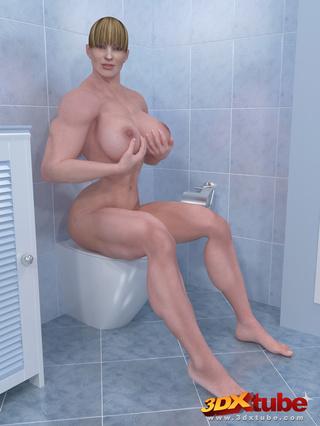big muscular girls bathroom
