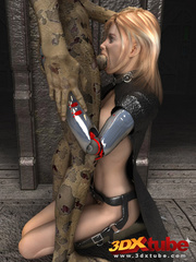 Busty blonde android is fucked on the floor by a - Picture 2