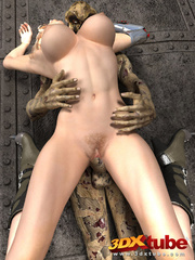 Busty blonde android is fucked on the floor by a - Picture 4