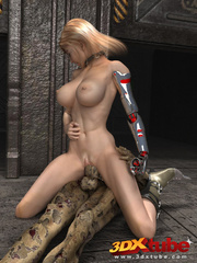 Busty blonde android is fucked on the floor by a - Picture 9