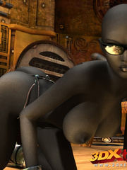 Sexy black soldier strips and shows her huge boobs - Picture 6