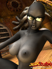 Sexy black soldier strips and shows her huge boobs - Picture 9