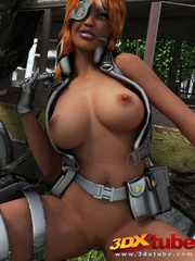 Black lady soldier pleasures her horny box using her - Picture 2
