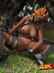 Black lady soldier pleasures her horny box using her - Picture 3