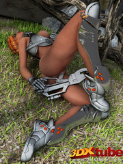 Black lady soldier pleasures her horny box using her - Picture 7