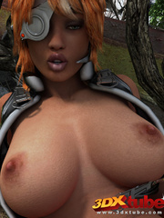 Black lady soldier pleasures her horny box using her - Picture 9