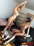 Two tranny roommates suck and fuck each other in dorm room!