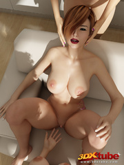 Three edgy girls with huge boobs gets naked and have - Picture 9