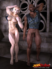 Horny muscular blonde prisoner sucks and fucks - Picture 1