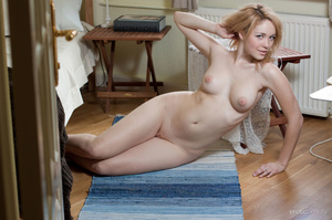 Cool erotic blonde in white negligee mod - XXX Dessert - Picture 16