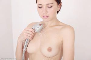 Steamy hot brunette cools fresh tits, sh - XXX Dessert - Picture 7