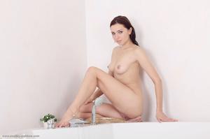 Steamy hot brunette cools fresh tits, sh - XXX Dessert - Picture 11