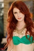 lovely redhead green bikini