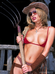 lusty cowgirl with foxy