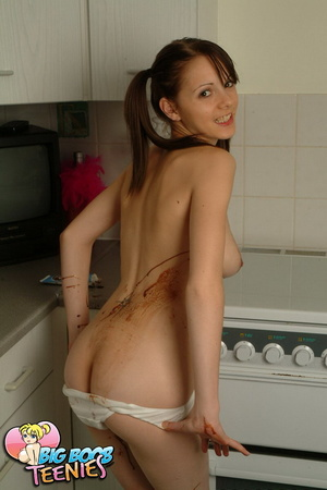 Sweet fresh brunette in white panties sp - XXX Dessert - Picture 13