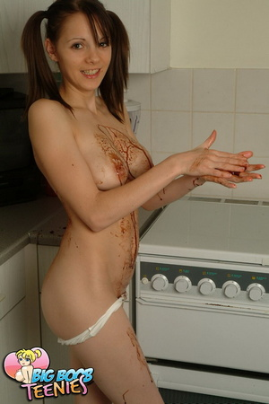 Sweet fresh brunette in white panties sp - XXX Dessert - Picture 14
