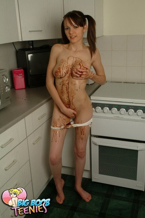 Sweet fresh brunette in white panties sp - XXX Dessert - Picture 15