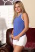 lusty blonde blue top