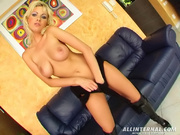 blonde babe gets her