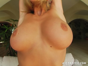 Sultry blonde female with huge tits gets - XXX Dessert - Picture 1