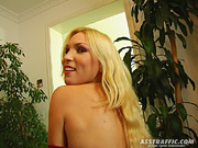 sweet blonde girl's asshole