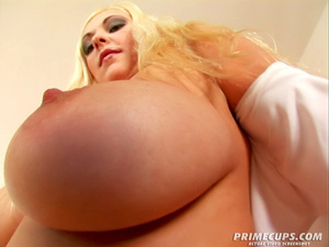 Blonde babe takes on a bare hung dick on - XXX Dessert - Picture 1