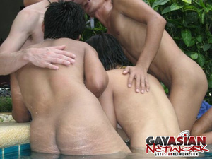 Three gorgeous Asians with hunk bodies g - XXX Dessert - Picture 4