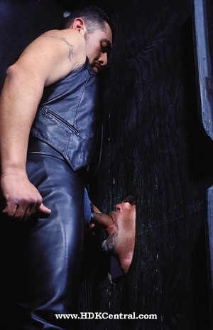 Big stud in black jacket, shirt and jean - XXX Dessert - Picture 11