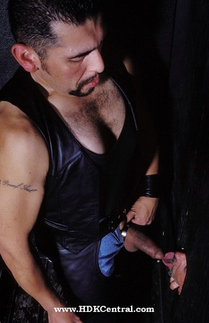 Big stud in black jacket, shirt and jean - XXX Dessert - Picture 14
